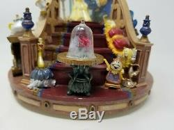1991 Disney Beauty And The Beast Snowglobe Water Globe The Encahnted Love
