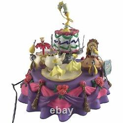 1991 Enesco Disney Beauty & The Beast Multi-Action Deluxe Music Box Be Our Guest