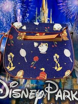 2019 DISNEY Dooney & Bourke BEAUTY AND THE BEAST Crossbody Saddle Bag Dream Big