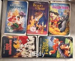 5 BLACK DIAMOND Walt Disney VHS Mermaid, Beauty & The Beast, Jungle Book, 101