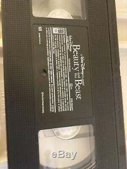 A Walt Disney Classic Beauty And The Beast 1992 VHS # 1325 Black Diamond Edition