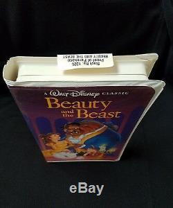 A Walt Disney Classic Beauty and the Beast 1992 VHS #1325 Black Diamond Edition