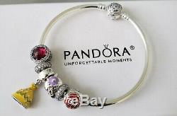 Authentic Pandora DISNEY Beauty and the Beast Bangle Set