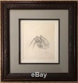 BEAUTY AND THE BEAST (1991) Disney JOHN ALVIN Original Art Drawing SIGNED Framed