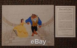 BEAUTY AND THE BEAST On the Staircase S/O Disney Sericel UF Belle Cel