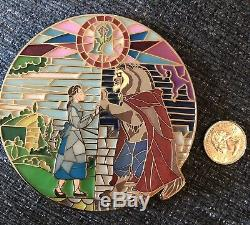 BEAUTY and The BEAST BELLE Jumbo Stained Glass Disney FP Fantasy Pin LE 75