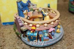 Beauty And The Beast Ice Skating Musical Figurine 1991 Disney music box
