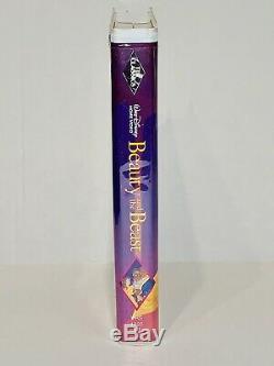 Beauty And The Beast VHS Black Diamond VCR Tape 1992 Walt Disney Classic RARE