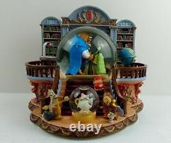 Beauty And The Beast Vintage Super Rare Snow Globe Theres Something There Tune