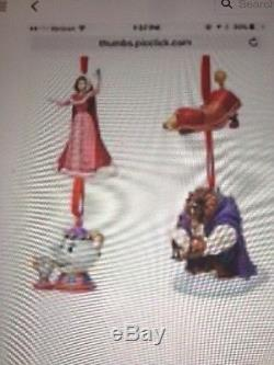 Beauty and the Beast Deluxe Sketchbook Ornament Set NEW DISNEY LIMITED EDT