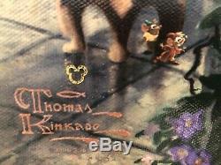 Beauty and the Beast Falling in Love Thomas Kinkade 18x27 Canvas LE DISNEY D/E