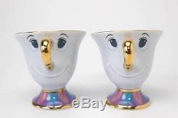 Beauty and the Beast Mrs. Potts Chip Tea Set Tokyo Disney Resort Limited New F/S