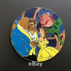 Beauty and the Beast Super Jumbo Stained Glass Rose LE 75 FANTASY Disney Pin 0
