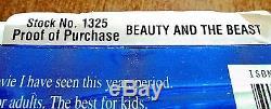 Beauty and the Beast VHS 1992 Walt Disney Classic Black Diamond Rare