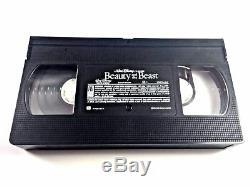 Beauty and the Beast VHS Tape CHRISTMAS LEAD Disney's Black Diamond RARE