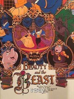 Beauty and the beast Mondo Poster By Germain Mainger Barthélémy Disney Belle