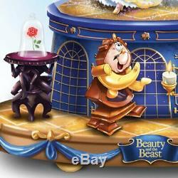 Bradford Exchange Disney Beauty & The Beast Rotating Musical Glitter Globe Belle