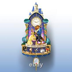 Bradford Exchange Disney Beauty and The Beast Happily Ever After Wall Clock