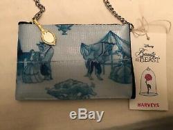 Brand New Harveys Seatbelt Disney Beauty & The Beast Belle Toile Rose Coin Purse
