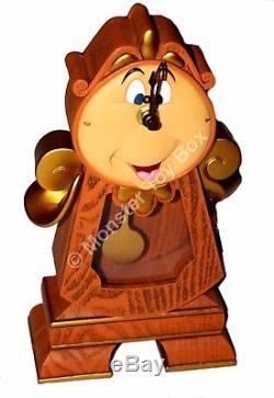Cogsworth Clock Lumiere Light-Up Figure Disney Parks Beauty & the Beast