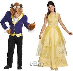 Couples Costumes Belle and Beast Adult Disney Beauty and the Beast Halloween