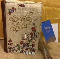 DANIELLE NICOLE Disney Beauty and the Beast Clutch Purse Book Belle BRAND NEW