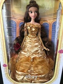 DISNEY 17 BELLE Limited Edition BEAUTY & THE BEAST Doll NIB Yellow dress 5000