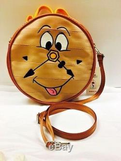 DISNEY BEAUTY & The BEAST HARVEYS SEATBELT COGSWORTH Circle Crossbody Bag