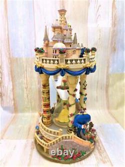 DISNEY Beauty and the Beast Castle Light Up Snowglobe Snow Dome Figure #50