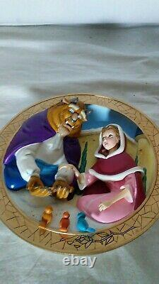 Disney 3D Plate Beauty and the Beast Friends at Last Limited Edition Relief Rare