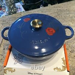 Disney Be Our Guest Le Creuset Soup Pot NIB Beauty And The Beast