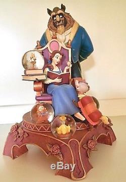 Disney Beauty And The Beast 10th Anniversary Snow Globe