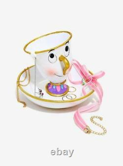 Disney Beauty And The Beast Ceramic Chip Jewelry Dish Tray Valentines Day Gift