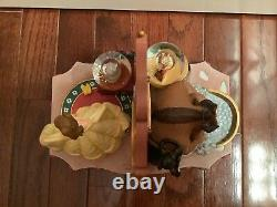 Disney Beauty And The Beast Figurines And Mini Snow Globes Rare