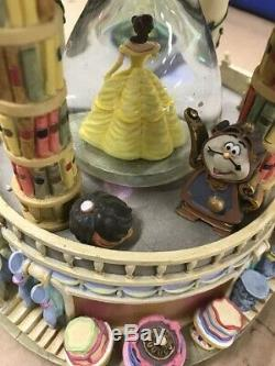 Disney Beauty And The Beast Hourglass Snow Globe Used Condition