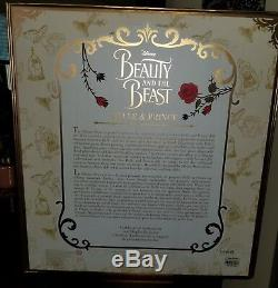 Disney Beauty And The Beast Live Action Platinum Doll Set Limited Edition 500 Le