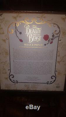 Disney Beauty And The Beast Live Action Platinum Doll Set Limited Edition Of 500