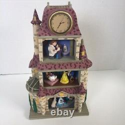 Disney Beauty And The Beast Magic Moments In Time Clock Tower Diorama New In Box