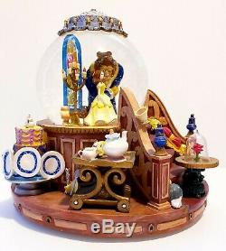 Disney Beauty And The Beast Musical Light Up Snowglobe