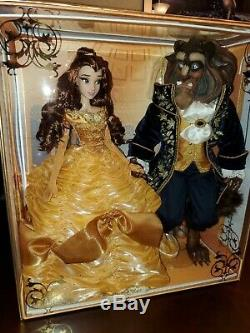 Disney Beauty And The Beast Platinum Limited Edition #17 of 500 Doll Set