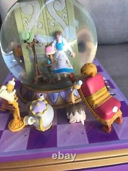 Disney Beauty And The Beast Snow Globe Musical Tune Something There