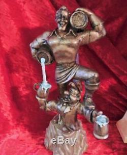 Disney Beauty Beast Gaston Big Fig statue figure Villains REAL WORKING FOUNTAIN
