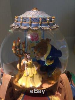Disney Beauty & The Beast Snow Globe/Music Box
