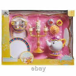 Disney Beauty and The Beast''Be Our Guest'' Singing Tea Cart Play Set