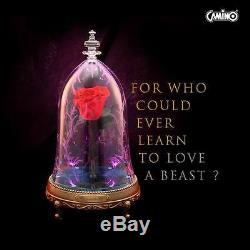 Disney Beauty and The Beast Enchanted Rose Bluetooth Speaker LED Light Camino
