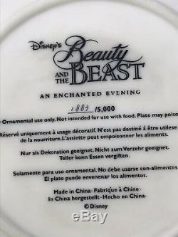 Disney Beauty and the Beast An Enchanted Evening 3D Plate Statue Limited Edition