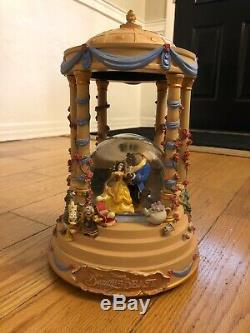 Disney Beauty and the Beast Gazebo Snowglobe RARE DISNEY STORE EXCLUSIVE