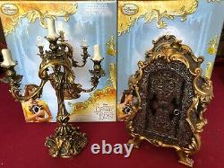 Disney Beauty and the Beast Lumiere and Cogsworth Set limited edition of 2000