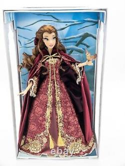 Disney Beauty & the Beast Limited Edition LE 17 inch Winter Belle Doll NEW