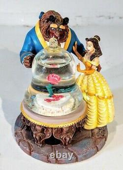 Disney Belle Beauty And the Beast Mini Snowglobe Snow Globe Rose 3.75